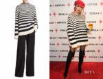 Olivia Culpo's Alberta Ferretti Striped Wool Sweater
