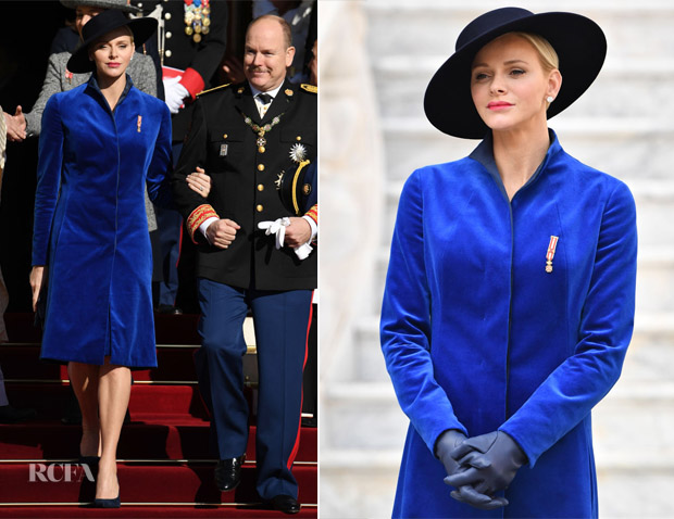 Princess Charlene of Monaco In Akris - Monaco National Day & Gala