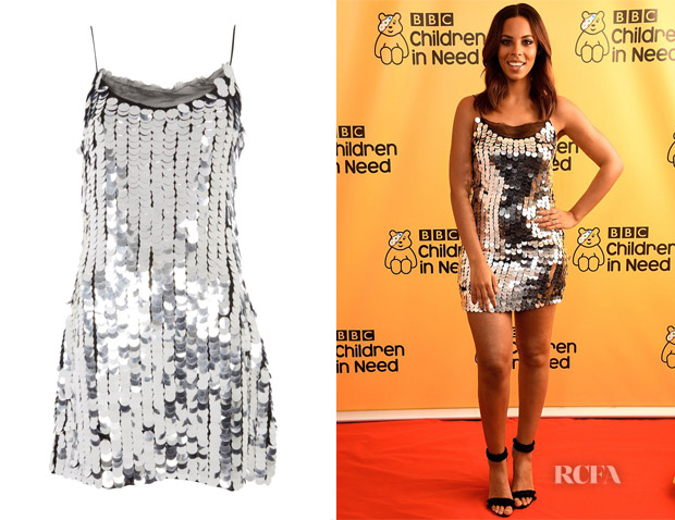 d53dd84ca027 Rochelle Humes  Topshop Disco Sequin Embellished Slip Dress - Red ...