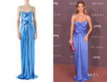 Rosie Huntington-Whiteley's Gucci Satin Draped Gown