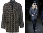 Rosie Huntington Whiteley's Isabel Marant Fliver Tweed Jacket