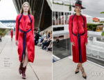 Shanina Shaik In Dion Lee - Melbourne Cup Carnival Media Preview Day