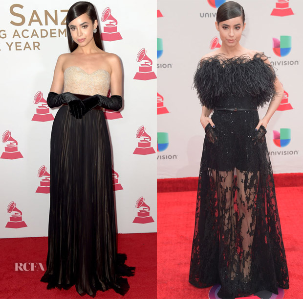 Sofia Carson In J. Mendel & Elie Saab - 2017 Person of the Year Gala & 2017 Latin Grammy Awards