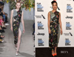 Tessa Thompson In Jason Wu - Film Independent 2018 Spirit Awards Press Conference