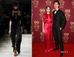 Violetta Komyshan and Ansel Elgort In Prada - 2017 GQ Men Of The Year Awards