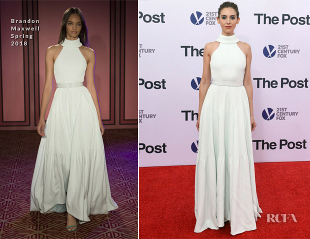 Alison Brie In Brandon Maxwell - 'The Post' Washington, DC Premiere