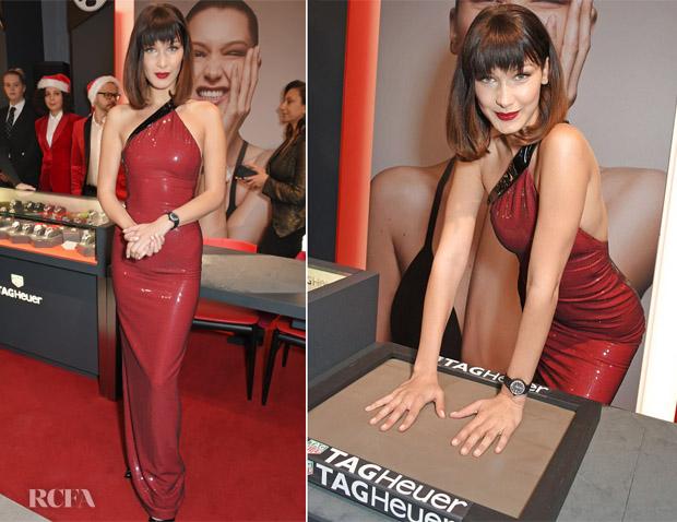 Bella Hadid In Ralph Lauren - TAG Heuer Flagship Opening