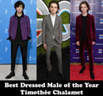 Best Dressed Male of the Year - Timothée Chalamet