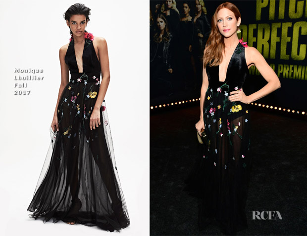 Brittany Snow In Monique Lhuillier - 'Pitch Perfect 3' LA Premiere