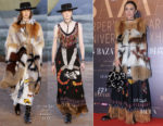 Carina Lau In Christian Dior - Harper's Bazaar 150th Anniversary Exhibition