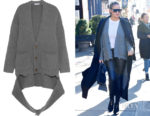 Chrissy Teigen's Balenciaga Oversized Draped Cardigan