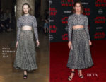 Cobie Smulders In Emilia Wickstead - 'Star Wars: The Last Jedi' LA Premiere