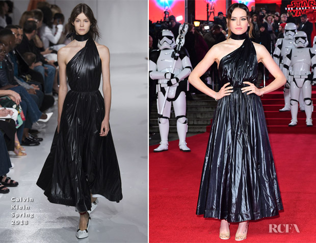 Daisy Ridley In Calvin Klein - 'Star Wars: The Last Jedi' London Premiere