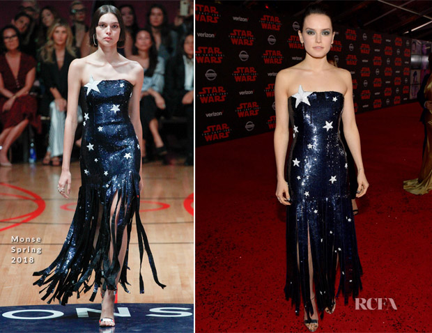 Daisy Ridley In Monse - 'Star Wars: The Last Jedi' LA Premiere