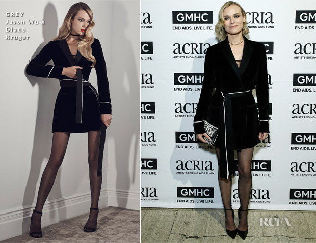 Diane Kruger In GREY Jason Wu x Diane Kruger - 22nd Annual ACRIA Holiday Dinner