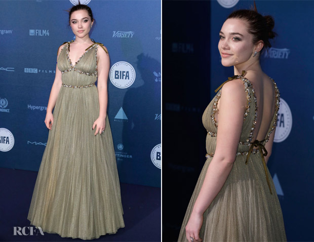 Florence Pugh In Miu Miu - British Independent Film Awards 2017