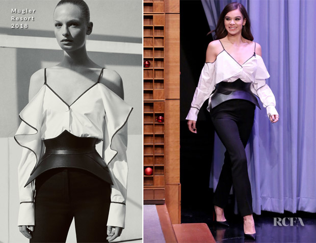 Hailee Steinfeld In Mugler - The Tonight Show Starring Jimmy Fallon