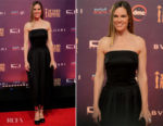 Hilary Swank In Giorgio Armani - 39th Cairo International Film Festival Closing Ceremony
