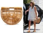 Jessica Alba's Cult Gaia Ark Large Bamboo Clutch