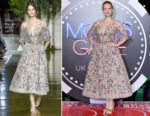 Jessica Chastain In Zuhair Murad Couture - 'Molly's Game' London Premiere