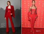 Joan Smalls In Pamella Roland - 'The Assassination Of Gianni Versace: American Crime' New York Screening