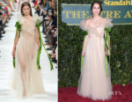 Keira Knightley In Valentino - The London Evening Standard Theatre Awards