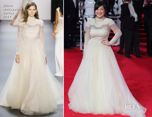 Kelly Marie Tran In Bibhu Mohapatra - 'Star Wars: The Last Jedi' London Premiere