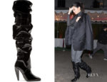 Kendall Jenner's Tom Ford Patent Leather Knee Boots