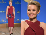 Kristen Bell In Roland Mouret -  75th Annual Golden Globe Nominations Announcement