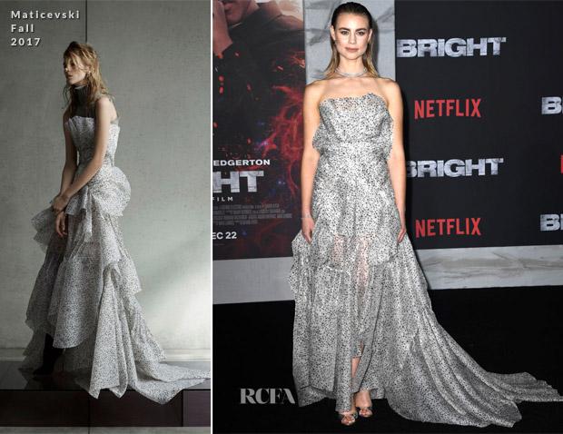 Lucy Fry In Maticevski -  Netflix's 'Bright' LA Premiere