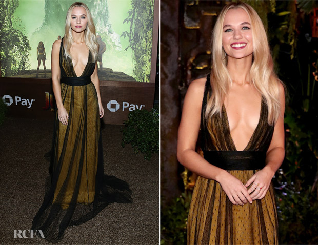 Madison Iseman In Thai Nguyen Atelier - 'Jumanji: Welcome To The Jungle'  LA Premiere