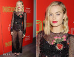 Margot Robbie In Dolce & Gabbana - The First Annual Neon Holiday Party