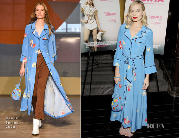 Margot Robbie In Ganni - 'I, Tonya' New York Screening