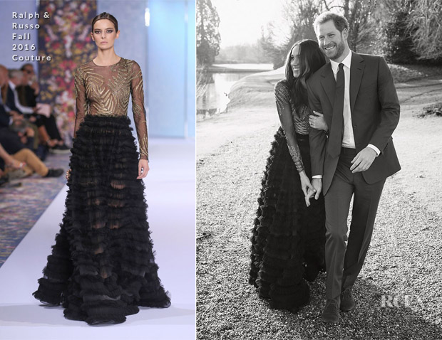 Meghan Markle In Ralph Russo Couture Official Engagement