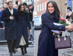 Meghan Markle wore Mackage, Wolford & Joseph for her first official Royal engagement