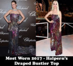Most Worn 2017 - Halpern's Draped Bustier Top