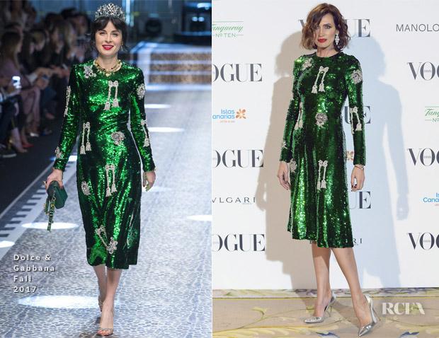 Nieves Alvarez In Dolce   Gabbana – Vogue x Manolo Blahnik Exhibition 57c0ffef14