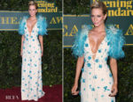 Poppy Delevingne In Prada - London Evening Standard Theatre Awards