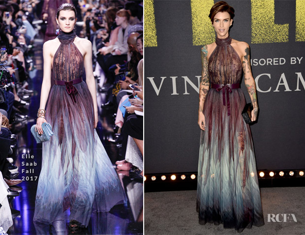 Ruby Rose In Elie Saab - 'Pitch Perfect 3' LA Premiere