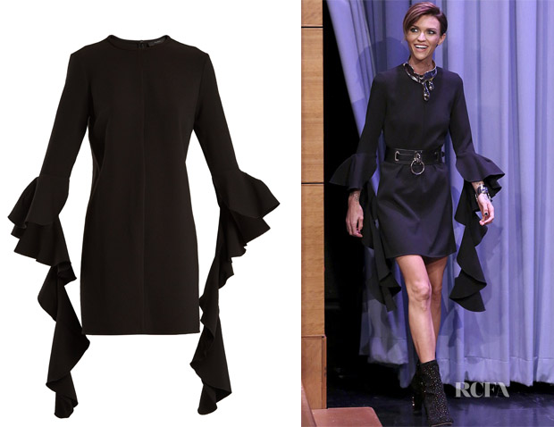 Ruby Rose's Ellery Kilkenny Deconstructed-Sleeve Dress