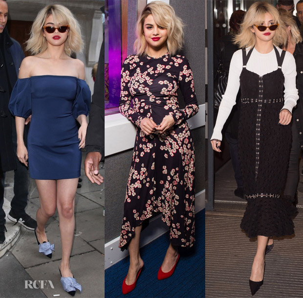 Selena gomez in cushnie et ochs isabel marant proenza schouler monday december 4 started off with a bang for selena gomez as she has been making the radio rounds in london england on behalf of her wolves promotion m4hsunfo