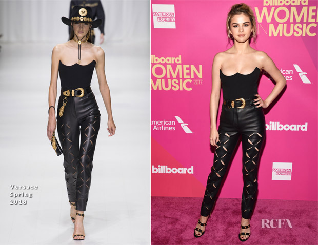 Selena Gomez In Versace - Billboard Women In Music 2017