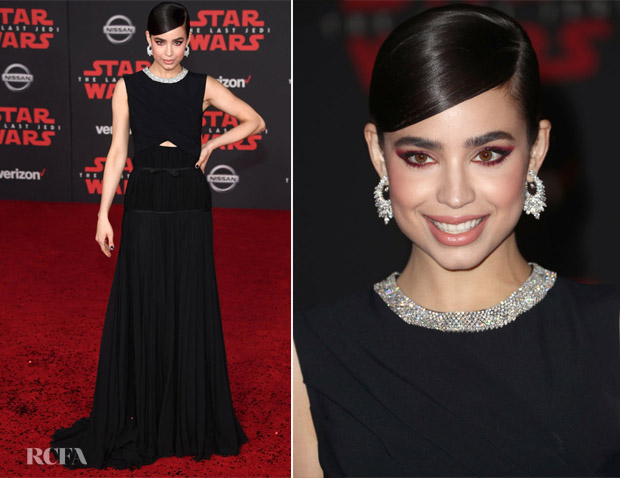Sofia Carson In Giambattista Valli - 'Star Wars: The Last Jedi' LA Premiere
