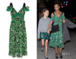 Thandie Newton's Self-Portrait Floral Printed Midi Dress