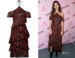 Victoria Justice's Alice + Oliva Annabeth Ruffled Dress