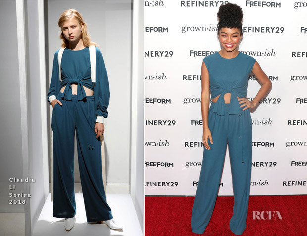 Yara Shahidi In Claudia Li - 'Grown-ish' LA Premiere