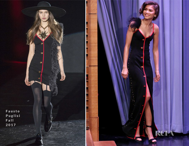 Zendaya coleman in fausto puglisi the tonight show starring jimmy zendaya coleman in fausto puglisi the tonight show starring jimmy fallon stopboris Images