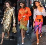 Zendaya Coleman In Giuseppe di Morabito,  Mary Katrantzou & Stella Jean - 'The Greatest Showman' New York Promo Tour
