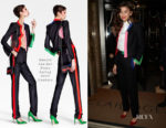 Zendaya Coleman In Ronald van der Kemp Couture, Stella Jean & Giuseppe di Morabito - Out In London
