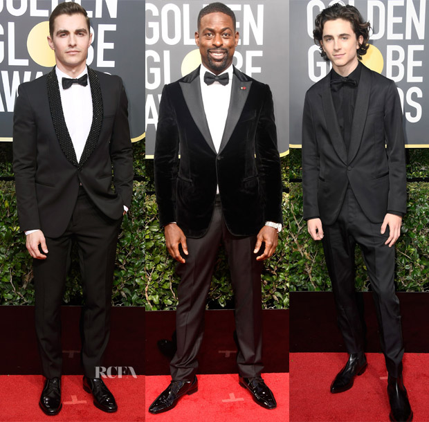 The all-black dress code was something more applicable to the women at the  2018 Golden Globe Awards on Sunday (January 7) in Beverly Hills ac8518618